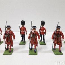 Figuras de Borracha e PVC: FIGURAS DEL DESFILE DE LA GUARDIA INGLESA . REALIZADAS POR BRITAINS. Lote 103850271