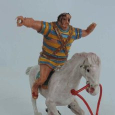 Figuras de Goma y PVC: FIGURA DE GOLIAT CON A CABALLO, ESTEREOPLAST, CAPITAN TRUENO, MUY DIFICIL CONSEGUIR.. Lote 103909303