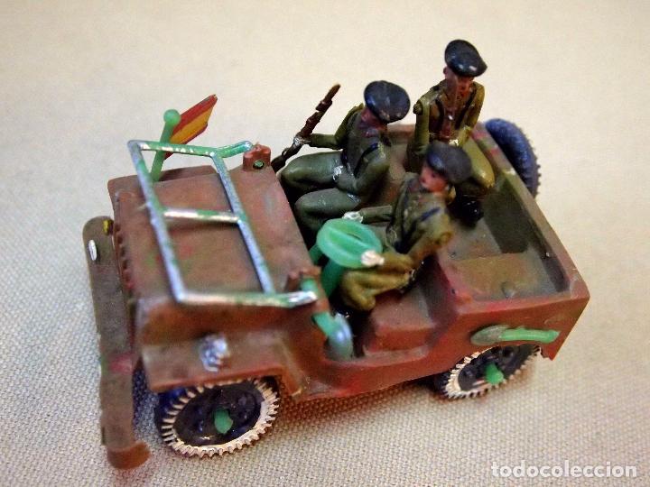 Figuras de Goma y PVC: ANTIGUO JEEP MILITAR, SOLDADOS, FABRICADO POR SOTORRES, 1960s - Foto 3 - 103952967