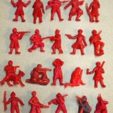 Figuras de Goma y PVC: LOTE 20 FIGURAS DE PLASTICO, PROMOCIONALES, PREMIUM, DUNKIN, SERIE COMPLETA, SOLDADOS RUSOS, 1960S. Lote 104048963