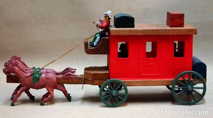 Figuras de Goma y PVC: UNICA, COMPLEMENTO FIGURAS DE GOMA, DE JUGUETERIA, DILIGENCIA, MADERA Y PLASTICO, LAFREDO, 1960s - Foto 8 - 104060763