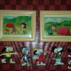 Figuras de Goma y PVC: LOTE 5 MUÑECOS DE SNOOPY DIFERENTES EPOCAS AÑOS 80-90-00 BULLY SLEICH + 2 PUZZLES + PARCHES ROPA. Lote 104075531