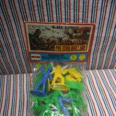 Figuras de Goma y PVC: BLISTER COMANCHES Y COWBOYS. Lote 104093491