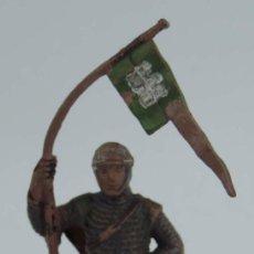 Figuras de Goma y PVC: FIGURA MEDIEVAL REAMSA, REALIZADA EN GOMA, ESTANDARTE Nº 132.. Lote 104146879