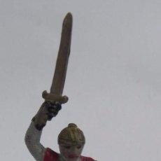 Figuras de Goma y PVC: FIGURA DE REAMSA, MEDIEVAL EN GOMA SERIE CABALLEROS CRUZADOS, REF. 133, PINTURA ORIGINAL.. Lote 104150447