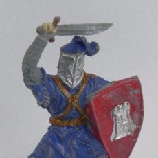 Figuras de Borracha e PVC: FIGURA MEDIEVAL DE GOMA LAFREDO, PINTURA ORIGINAL, PINTURA ORIGINAL, AÑOS 50, MIDE 6,5 CMS.. Lote 104253783