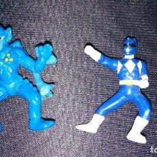 Figuras de Goma y PVC: POWER RANGERS RANGER AZUL + BABOO MINI FIGURAS SABAN 1995 MUY BUEN ESTADO BLUE. Lote 182653291
