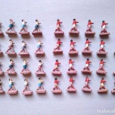 Figuras de Goma y PVC: LOTE 36 JUGADORES PLASTICO AÑOS 60 70 MONTAPLEX. Lote 104457663