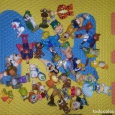 Figuras Kinder: LOTE CASI 40 FIGURAS KINDER, FERRERO Y OTRAS MARCAS SHERK DORAEMON SHIN CHAN SIMPSONS PVC. Lote 104600275