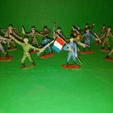 Figuras de Goma y PVC: 15 FIGURAS EJÉRCITOS DEL MUNDO DE COMANSI, AÑOS 60. Lote 83912596