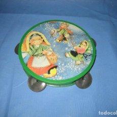 Figuras de Goma y PVC: D. PANDERETA DE JUGUETE AÑOS 70 O 80. Lote 104762591
