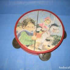 Figuras de Goma y PVC: D. PANDERETA DE JUGUETE AÑOS 70 O 80. Lote 104762735