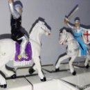 Figuras de Goma y PVC: FIGURAS MEDIEVALES A CABALLO JECSAN TORNEO. Lote 105587455