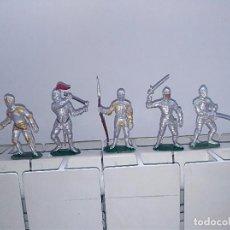 Figuras de Borracha e PVC: FIGURAS MEDIEVALES ACORAZADOS DE JECSAN TORNEO. Lote 105587599