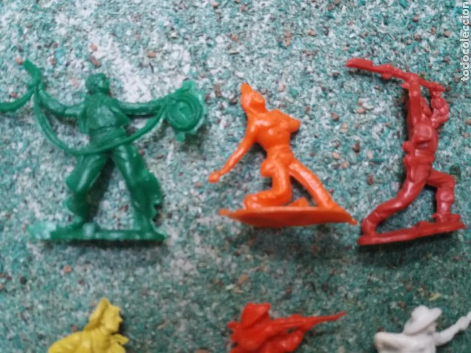 Figuras de Goma y PVC: Lote de Figuras del Oeste Gomarsa , Canal Pipero. Años 70/80. - Foto 4 - 105741263