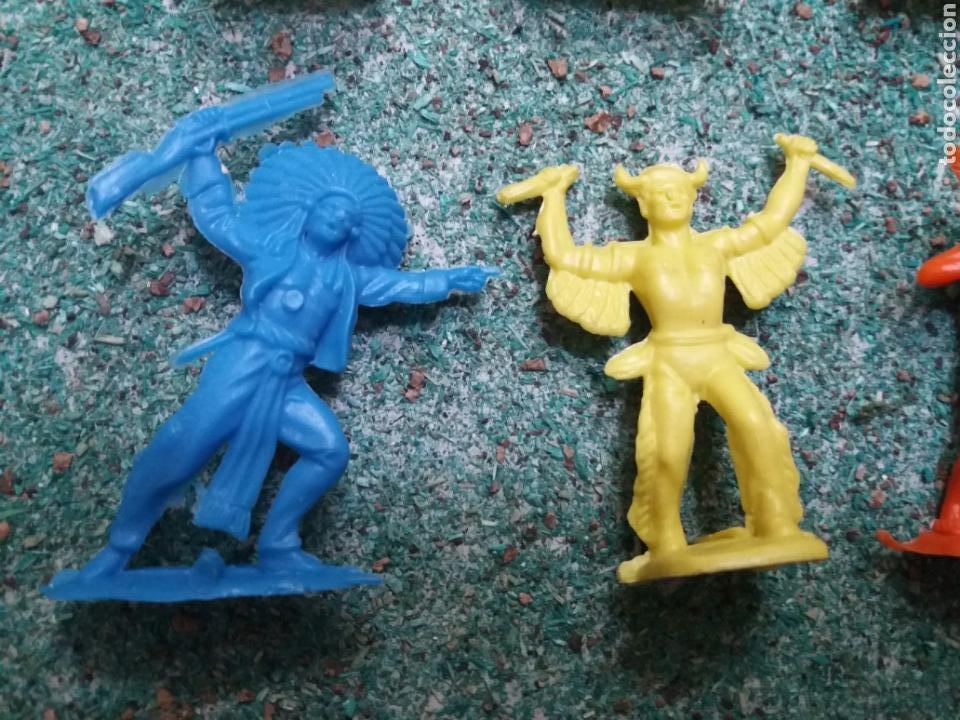 Figuras de Goma y PVC: Lote de Figuras del Oeste Gomarsa , Canal Pipero. Años 70/80. - Foto 5 - 105741263