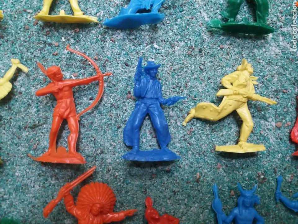 Figuras de Goma y PVC: Lote de Figuras del Oeste Gomarsa , Canal Pipero. Años 70/80. - Foto 6 - 105741263