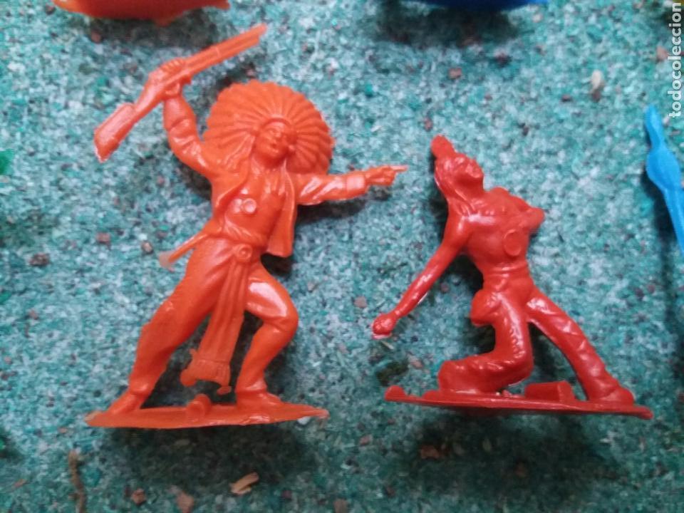 Figuras de Goma y PVC: Lote de Figuras del Oeste Gomarsa , Canal Pipero. Años 70/80. - Foto 9 - 105741263