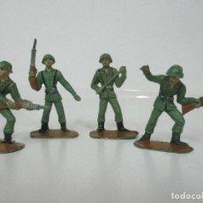Figuras de Goma y PVC: 4 SOLDADOS ESPAÑOLES - MARCA COMANSI - EJÉRCITOS DEL MUNDO - SOLDADO - REF Nº 1014,15,16,18. Lote 105870127