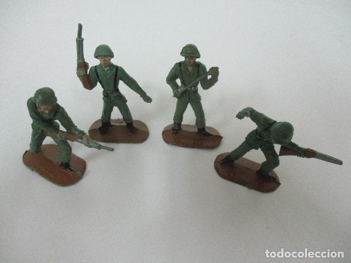 Figuras de Goma y PVC: 4 Soldados Españoles - Marca Comansi - Ejércitos del Mundo - Soldado - Ref nº 1014,15,16,18 - Foto 2 - 105870127