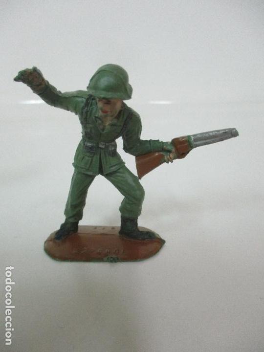 Figuras de Goma y PVC: 4 Soldados Españoles - Marca Comansi - Ejércitos del Mundo - Soldado - Ref nº 1014,15,16,18 - Foto 3 - 105870127