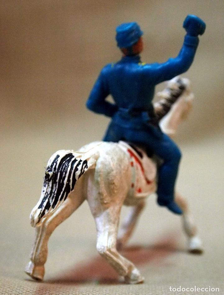 Figuras de Goma y PVC: FIGURA DE PLASTICO, SOLDADO A CABALLO, SEPTIMO, YANKE, FABRICADO POR JECSAN - Foto 2 - 105886819