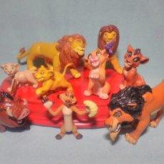 Figuras de Goma y PVC: 9 FIGURAS DE EL REY LEÓN DE DISNEY , EN GOMA PVC. Lote 109529980