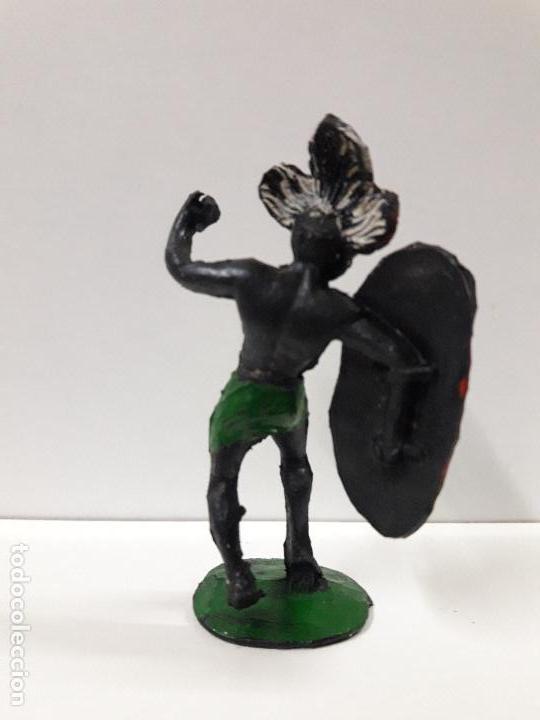 Figuras de Goma y PVC: GUERRERO AFRICANO NEGRO . REALIZADO POR ARCLA . AÑOS 50 EN GOMA - Foto 2 - 106009951