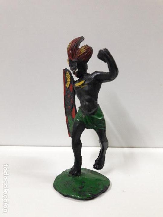 Figuras de Goma y PVC: GUERRERO AFRICANO NEGRO . REALIZADO POR ARCLA . AÑOS 50 EN GOMA - Foto 4 - 106009951