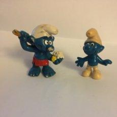 Figuras de Goma y PVC: LOTE 2 FIGURAS PVC LOS PITUFOS. Lote 106102484