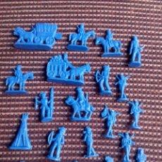 Figuras de Goma y PVC: MONTAPLEX LOTE INDIOS Y VAQUEROS. Lote 106726543