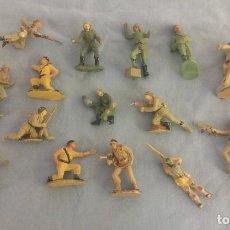 Figuras de Goma y PVC: LOTE DE SOLDADOS DE PLASTICO DE PECH Y JECSAN RIO KWAI ETC ORIGINAL AÑOS 60/70 . Lote 106795839