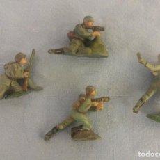 Figuras de Goma y PVC: LOTE DE SOLDADOS DE GOMA DE PECH ORIGINAL AÑOS 60. Lote 106796467