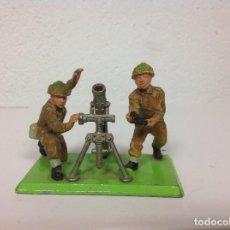 Figuras de Goma y PVC: FIGURA MORTAR INGLES BRITAINS - PIEZA BAZOKA BRITAINS INGLESES. Lote 106968287