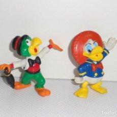 Figuras de Goma y PVC: SERIE DE 2 FIGURAS DE PVC GOMA DISNEY DONALD CARIOCA LOS TRES CABALLEROS - COMICS SPAIN. Lote 107004335