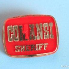 Figuras de Goma y PVC: PLACA SHERIFF DE COMANSI. Lote 107016171