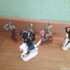 Figuras de Goma y PVC: FIGURAS DE PLÁSTICO MEDIEVALES AÑOS 90 GERMANY. Lote 107073096