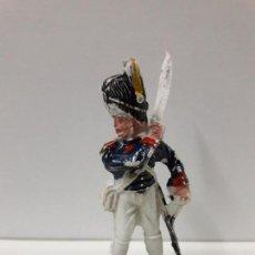 Figuras de Goma y PVC: OFICIAL NAPOLEONICO . SERIE WATERLOO . REALIZADO POR LAFREDO . AÑOS 50. Lote 107222363
