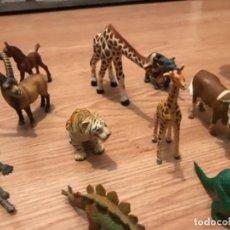 Figuras de Goma y PVC Schleich: LOTE DE FIGURAS DE ANIMALES ANTIGUAS SCHLEICH L. Lote 107355747