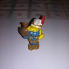Figuras de Goma y PVC: PEYO LOS PITUFOS PITUFA PITUFINA AÑOS 90. Lote 107356999