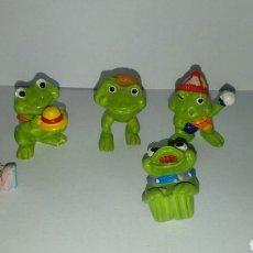 Figuras Kinder: LOTE 6 RANAS KINDER FERRERO AÑO 1993. Lote 107401395