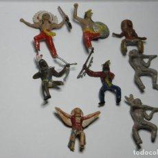 Figuras de Goma y PVC: LOTE DE INDIOS DE COMANSI REAMSA PARA PIEZAS O RESTAURAR. Lote 107686467