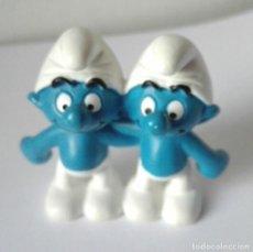 Figuras de Goma y PVC: PITUFOS GEMELOS **** FIGURAS SCHLEICH PEYO MADE IN GERMANY AÑO 2009. Lote 107735907