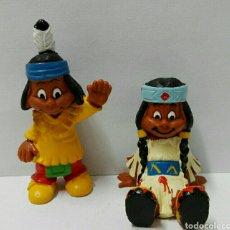 Figuras de Goma y PVC Schleich: LOTE FIGURAS PVC SCHLEICH YAKARI FIGURAS PVC INDIOS FIGURAS SCHLEICH. Lote 107842967