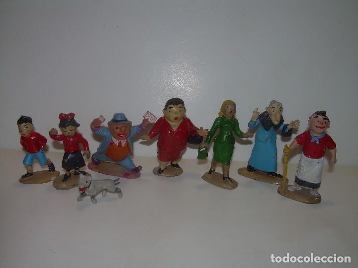 ANTIGUAS Y RARISIMAS FIGURAS DE GOMA DURA..8 PERSONAJES ...TBO...FAMILIA ULISES. (Juguetes - Figuras de Goma y Pvc - Otras)