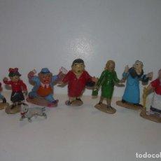 Figuras de Goma y PVC: ANTIGUAS Y RARISIMAS FIGURAS DE GOMA DURA..8 PERSONAJES ...TBO...FAMILIA ULISES.. Lote 108048363