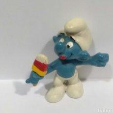 Figuras de Goma y PVC: VINTAGE 80'S ORIGINAL. ICE LOLLY SMURF YELLOW/RED/WHITE LOLLY. PITUFO POLO DE HIELO. ORIGINAL AÑOS80. Lote 108059815