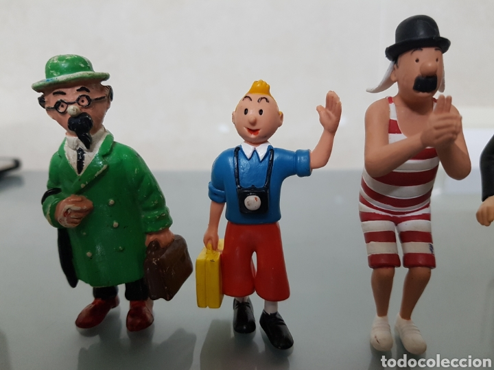 Figuras de Goma y PVC: GRAN LOTE TINTIN 6 FIGURAS PVC - Foto 3 - 108283259