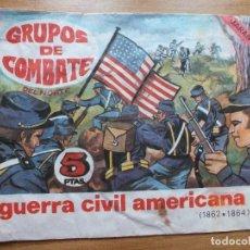 Figuras de Goma y PVC: MONTAPLEX SOBRE GUERRA CIVIL AMERICANA ARTILLERIA GRUPOS DE COMBATE DEL NORTE VACIO. Lote 108319199