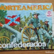 Figuras de Goma y PVC: MONTAPLEX SOBRE GUERRA CIVIL AMERICANA ARTILLERIA GRUPOS DE COMBATE CONFEDERADOS VACIO. Lote 108326383